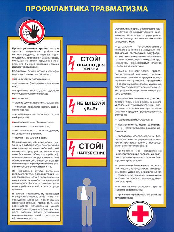 Плакаты «Охрана труда на объекте» (ВЗ-17, бумага, А3, 6 листов)