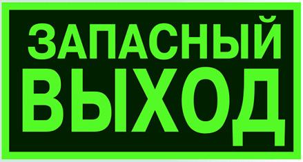 Знак E23 «Указатель аварийного выхода» (фотолюминесцентный пластик ГОСТ Р 12.2.143–2009, 250х125 мм)